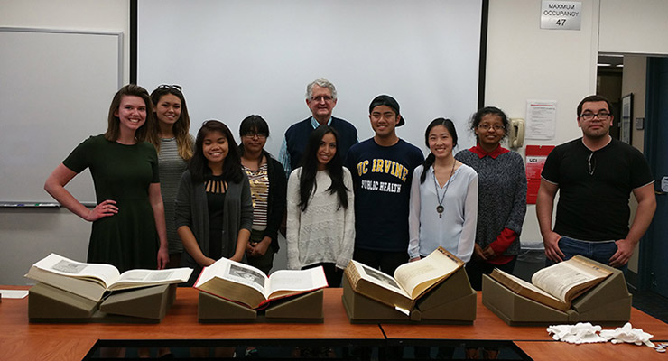 First Folio With Students